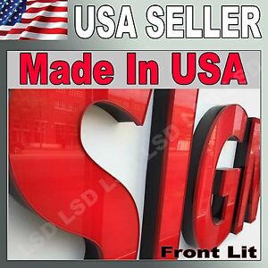 24 Led Frontlit Channel Letters Store Signs Factory Direct To You Store Sign
