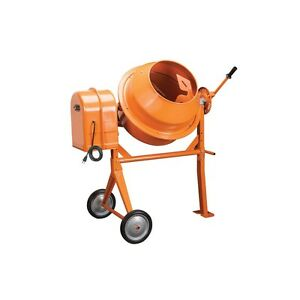 New 3 5 Cubic Ft 15 Portable Steel Electric Concrete Stucco Mortar Cement Mixer