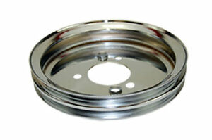 Bbc Chevy 396 454 Chrome Steel Swp Double Groove Crankshaft Pulley