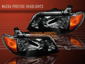 01 02 03 Mazda Protege Mp3 4d Jdm Oe Headlights Lamps