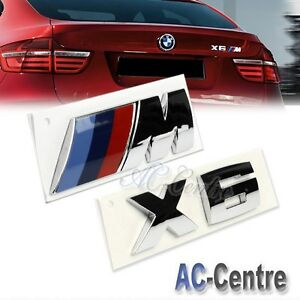 X6 Oem Genuine Trunk Rear Boot Letter Emblem Badge Set For All Bmw X6 M Power