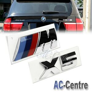 X5 Oem Genuine Trunk Rear Boot Letter Emblem Badge Set For All Bmw X5 M Power