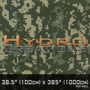 10 Sq Mtrs Hydrographic Film Hydro Dipping Water Transfer Film Digi Camo Green