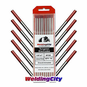 10 pk Tig Welding Tungsten Electrode 2 Thoriated red 1 8 x7 Us Seller Fast