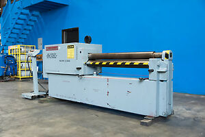 12 Gauge X 4 Montgomery Hydraulic Power Roll Sheet Metal Bender Roller