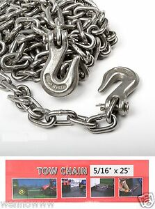 5 16 X 25ft Tow Chain Automotive Truck Towing Log Chain