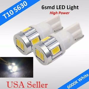 2x T10 T15 168 194 W5w Cree High Power 6smd Led Backup Reverse Light Lamp Bulb