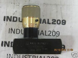 Italy Hydraulic Flow Valve Ft257 5 12 New