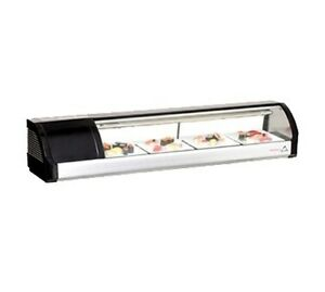 Everest Esc59l Countertop Refrigerated Sushi Display Case 59