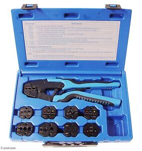 Ratcheting Terminal Crimper Tool 9 Dies Wire Crimping Tools Terminals