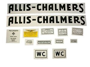 Allis Chalmers wd Tractor Decals