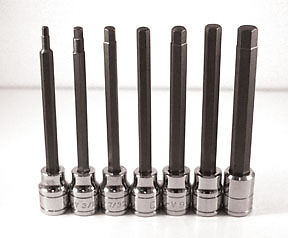 Extra Long Sae Hex Bit Socket Set 7 Pc Atd Tools 13786 Atd