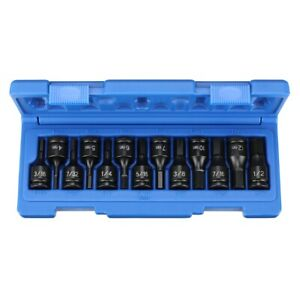 13 Pc 3 8 Dr Metric And Sae Hex Impact Driver Set Grey Pneumatic Gry1298hc