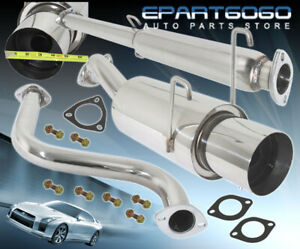 93 97 Del Sol Eg Eh Si 4 25 Tip Stainless Single Catback Cat Exhaust System