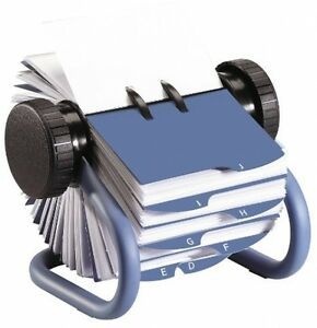 Rolodex Open Rotary Business Card File 200 Card Sleeves Office Desk Supplies