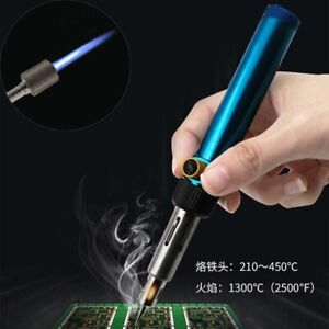1pcs 3 In 1 Aerated Flame Butane Gas Soldering Iron Pen Flame Torch Tools