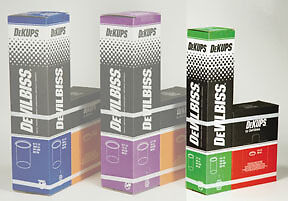 Dekups Gravity Feed 9 Oz 265 Ml Disposable Cups And Lids 32 Count Devilbiss