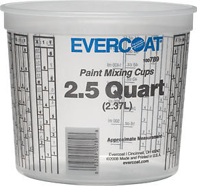 2 5 Quarts Paint Mixing Cups Fibre Glass evercoat 789 Fib