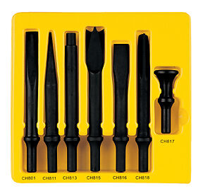7 Pc 498 Shank H d Chisel Set Grey Pneumatic Cs807 Gry