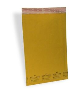 100 1 7 25x12 X wide Ecolite Usa Kraft Bubble Mailer Envelopes From Theboxery