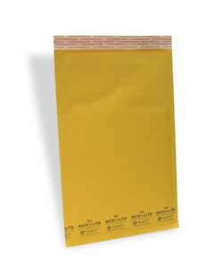 100 3 8 5x14 5 X wide Ecolite Usa Kraft Bubble Mailer Envelopes From Theboxery