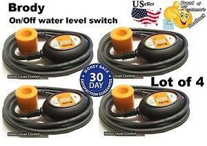 Lot Of 4 Pcs Float Switch Automatic Water Level Sensor Control With10 Ft cable