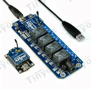 4 Channel Usb wireless 5v Relay Module Xbee Remote Control Kit