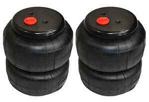 Air Ride Suspension Air Bags Pair Deluxe 2600 1 2 Npt Kit Replacement Parts