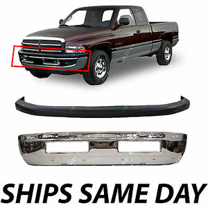 New Front Bumper Combo Kit Bundle For 1994 2001 Dodge Ram Truck 1500 2500 3500