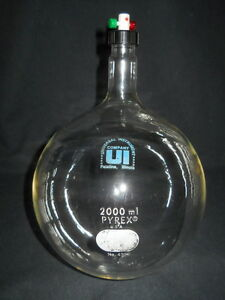 Corning Pyrex Glass 2000ml Static Dilution Bottle With Thread Mininert Valve