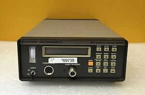 Marconi Instruments 6960 30 Khz To 26 5 Mhz Single Channel Rf Power Meter