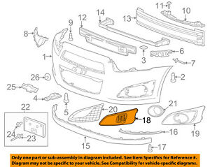 Chevrolet Gm Oem 12 16 Sonic Front Bumper Grille Trim Cover Right 96694774