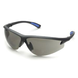 Bifocal Safety Glasses In Polycarbonate Grey Lens 1 5 Diopter