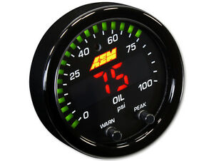 Aem X Series 100 Psi Oil Fuel Pressure Gauge 30 0301