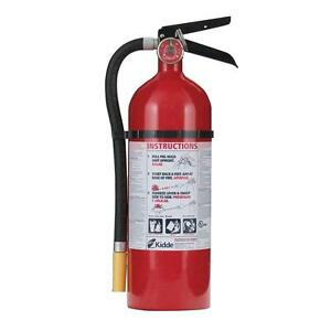 Fire Extinguisher Rechargeable Abc Multi use Dry Powder 10 Ft Range Wall Mount