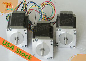 usa Eu Free Nema23 Stepper Motor 8mm Shaft 3n m 425oz in 115mm Cnc Miling