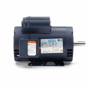 120554 00 Leeson 5hp Compressor Duty Motor 3450rpm 230v 1ph 145t 7 8 120554