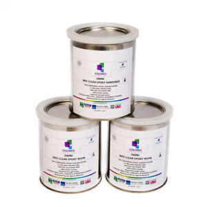 Clear Epoxy Resin Coating For Wood Tabletop concrete garage Floors 3 Quart Kit