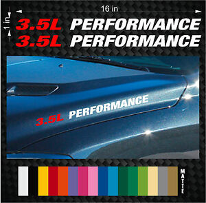 2 3 5l Performance Hood Vinyl Sticker Emblem Decals Ford F150 Twin Turbo