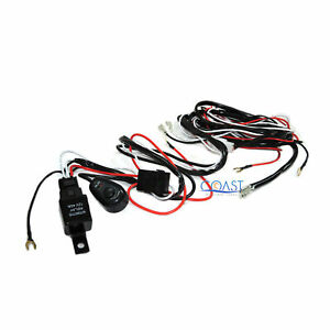 Cree Led Light Bar 7 Ft Dual On Off Switch 40a Relay Wiring Harness Car Truck