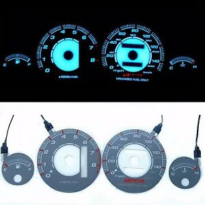 Bar Autotech Indiglo Dash Cluster El Glow Gauge For Acura Integra 94 99 Mph