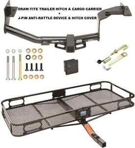 Trailer Hitch Cargo Basket Carrier Silent Pin Lock Tow For 16 17 Kia Sorento