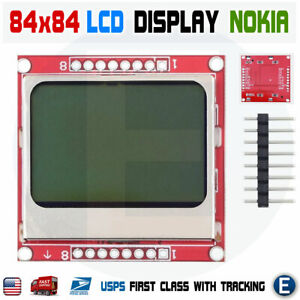 84 48 84x48 Lcd Module White Backlight Pcb Nokia 5110 Arduino Raspberry Pi Usa