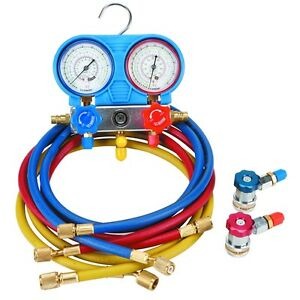 A C Ac Manifold Gauge Set Car Automotive Ac Air Conditioning Test Filling System