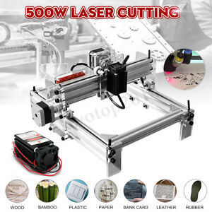 500mw Mini Laser Cutting Engraving Machine Printer Kit Desktop 20x17cm Diy New