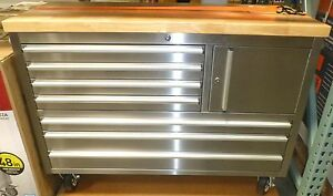 Stainless Steel On Rolling Workbench Toolbox Snap Shut Drawer mexico Export Yes