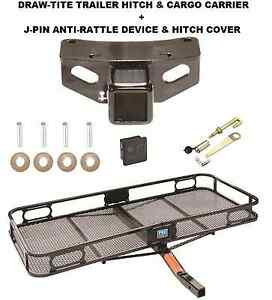 Trailer Hitch Cargo Basket Carrier Silent Pin Lock Fits 2010 19 Lexus Gx460