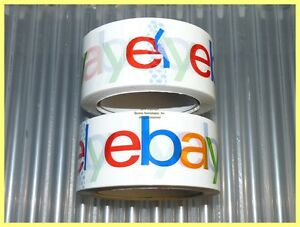 2 Rolls Of 2 Wide 2 Mil Ebay Branded Bopp Packing Shipping Tape 75 Yards Each