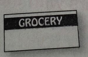 Black Grocery Labels For Monarch 1110 1 Case 255 000 Made In Usa With Inkers