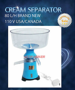 Dairy Electric Cream Milk Skimmer Separator 100 L h 110v Usa ca Plug